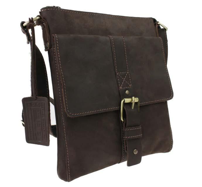 Купить мужскую кожаную сумку SM01VP-38