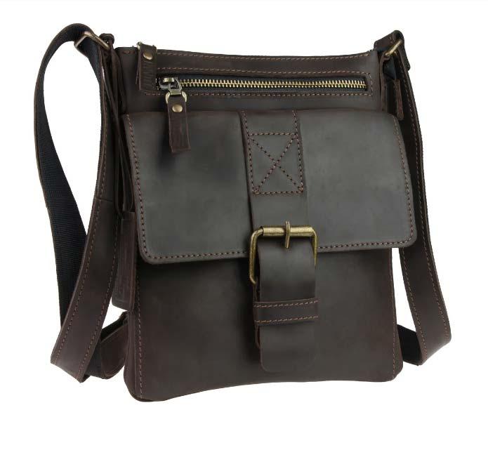 Кожаная сумка планшет SM01VP-57