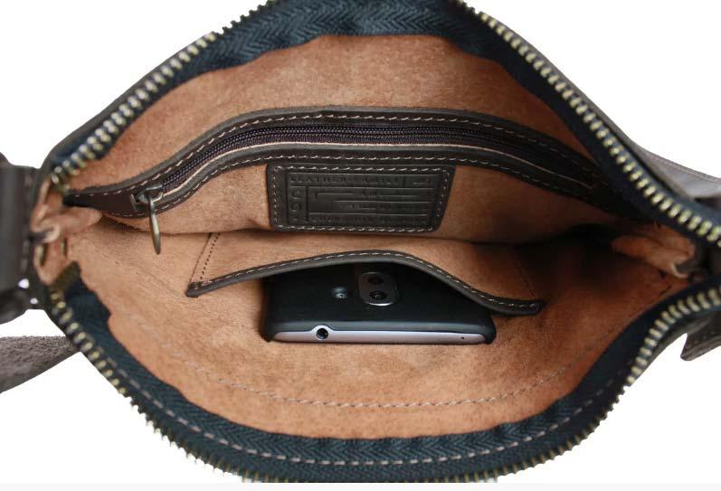 Купить мужскую кожаную сумку SM01VP-60