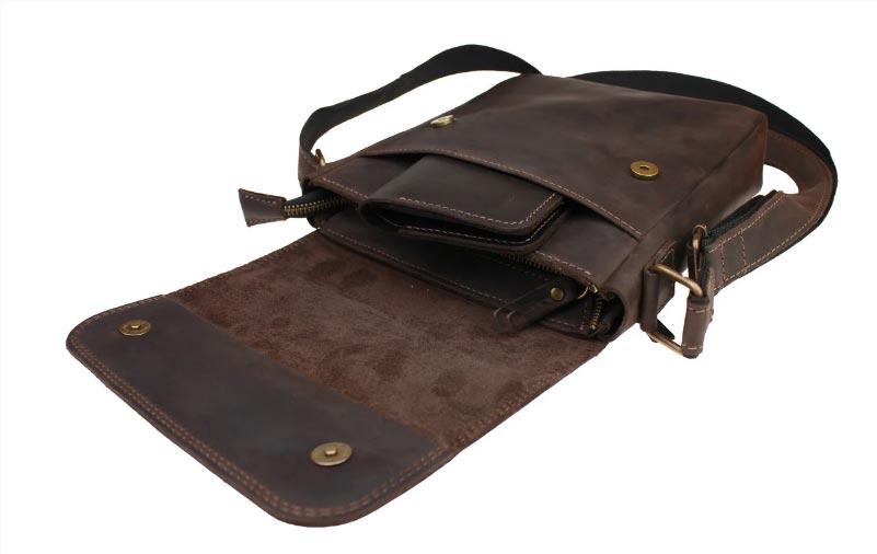 Купить мужскую кожаную сумку SM01VP-117